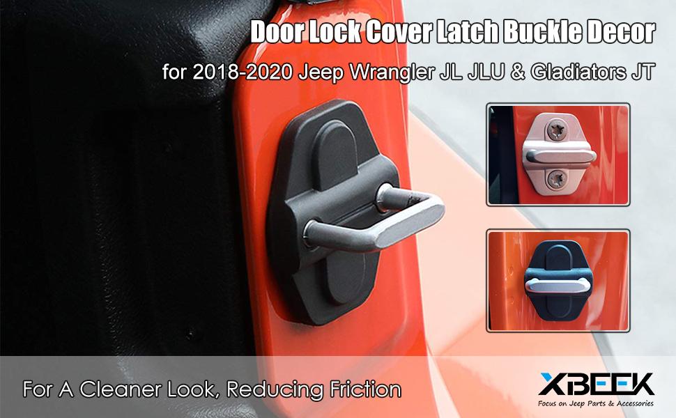 6pcs Door Lock Cover Buckle Decor Trim for Jeep Wrangler JL 18+//Gladiator JT 20+