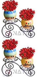 Nutech Impex trust basket magic metals nuha golu decor room home accessories metal pot planter stand