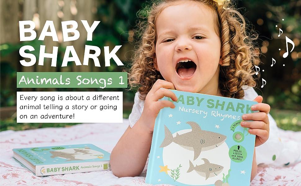 litte girl  singing Baby Shark sound book