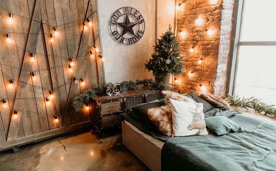 metal star decor for living room