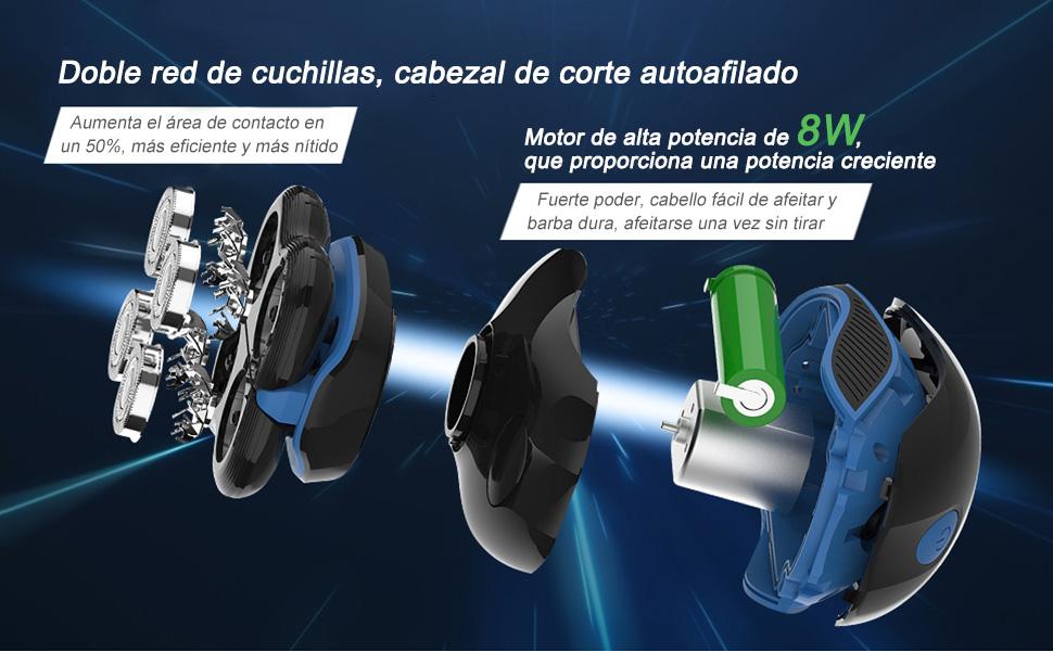 5 IN 1 Húmedo & Seco Afeitadora Electrica Hombre,5D Electrica ...
