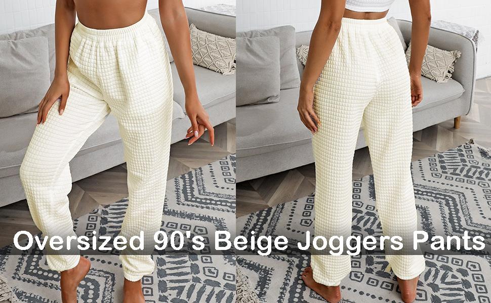 white sweatpants for women fall pants jogger pants home loungewear pajama bottoms running pants