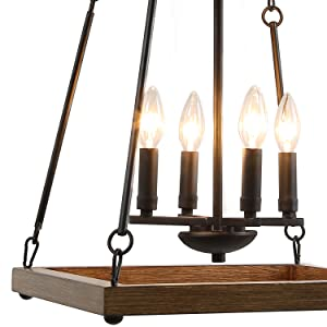LALUZ Farmhouse Chandeliers for Dining Rooms, Pendant