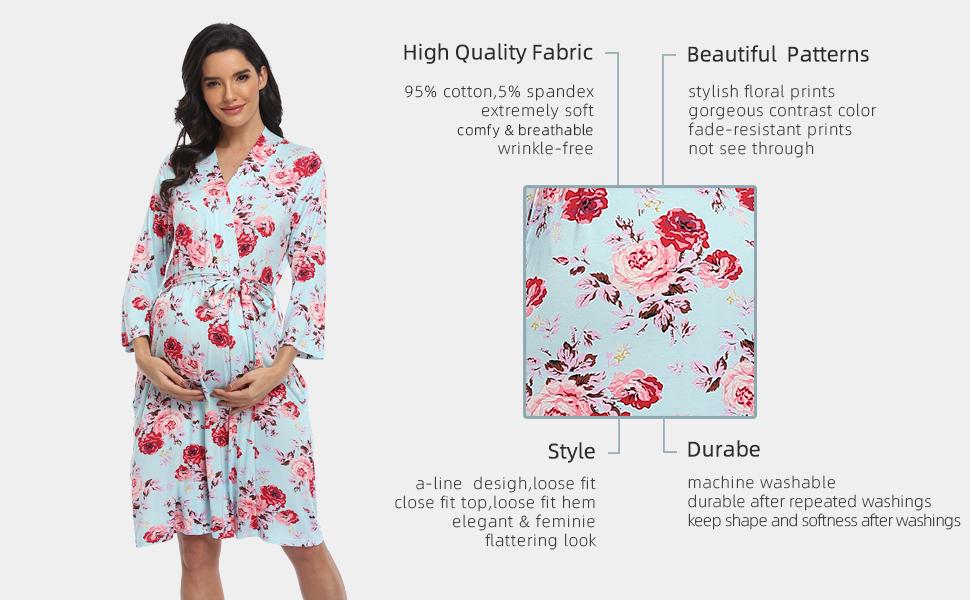 nursing robes for hospital robe postpartum robes for hospital delivery robe