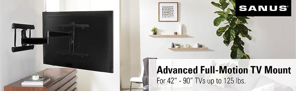 sanus premium best buy costco black silver stainless steel articulating swivel extend adjust quality