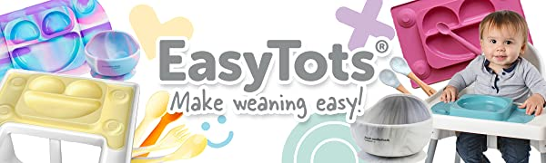 EasyTots Weaning Products Range for baby led weaning