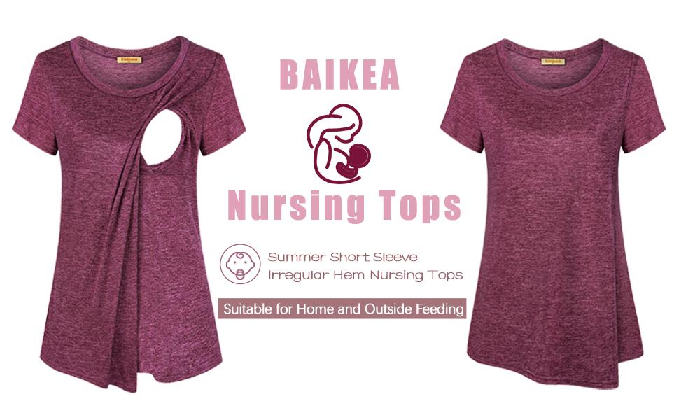 BAIKEA Nursing Tops-1