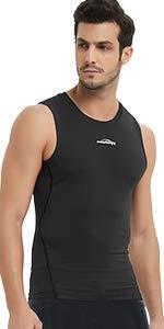 Mens Compression Tops Shorts Sport Muscle Base Layer Skin Vest Gym T-Shirt Pants