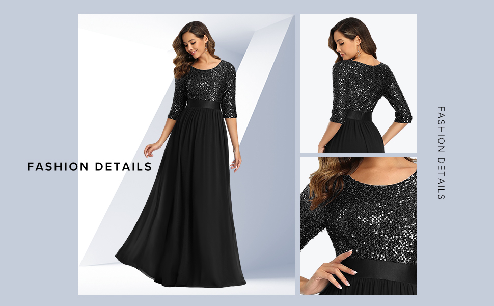 Ever-Pretty womens long formal dresses for evening party bridesmaid dress mother's dress for wedding