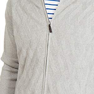 Maglione con Cerniera a Collo Alto in Cotone 100% Stile Casual Chic per Uomo
