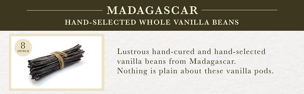 Madagascar Organic Hand-Selected Whole Vanilla Beans