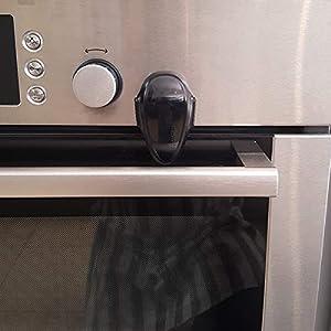 Oven lock child safety