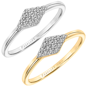Stackable Fashion Ring with Cluster Diamond Shape