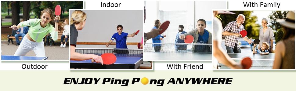 table tennis racket set ping pong paddles set ping pong set portable table tennis set for all ages