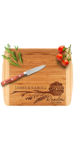 Amazing Items Personalized Cutting Board Custom Laser Engraved Bamboo Cutting Board