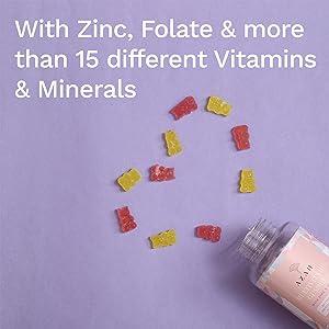 Multivitamin gummies with Zinc & Folate