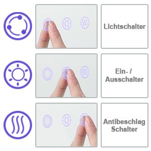 Badezimmerspiegel mit Touch-schalter