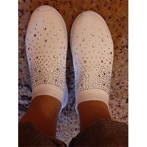 wHITE slip on nurse sneaker