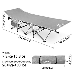 Camping cot for adult