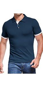 mens polo shirts navy