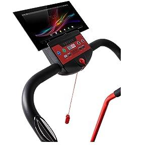 Programable, con sensor cardíaco y soporte para tablet / móvil.