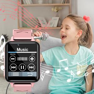 Smartwatch voor kinderen met muziek.