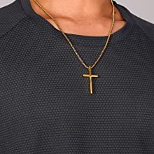 cool gold cross necklace
