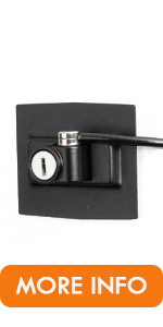 Black fridge lock
