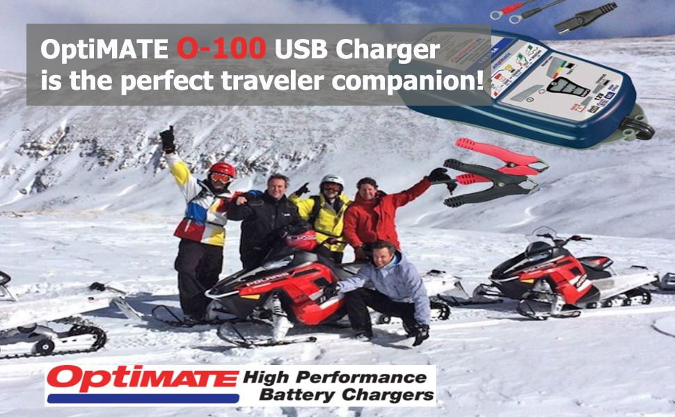 with standby mode and vehicle battery monitor. OptiMate USB O-108KIT Smart in-line 3300mA USB charger kit