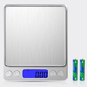 Schmuck elektronische Waage K/üchenwaage Taschenwaage hohe Pr/äzision Diyife Pr/äzisionswaage 500 g//0,01 g Tara-Funktion /& PCS mit 2 Ablagen LCD-Display mit Hintergrundbeleuchtung