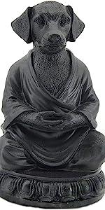 Buddha Cat Statue in Meditating Cat Figurine Pose for Zen Cat Memorial Dhyana Mudra