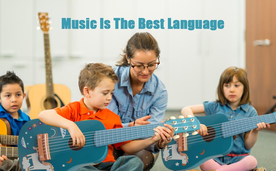 Pratique de la guitare pour les tout-petits