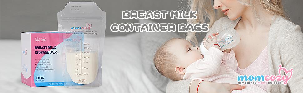 Bolsas Leche Materna para el Almacenamiento Pre-Esterilizadas - Bolsas de Ahorro de Leche Materna a Prueba de Fugas – Libre de BPA – Contenedores de ...