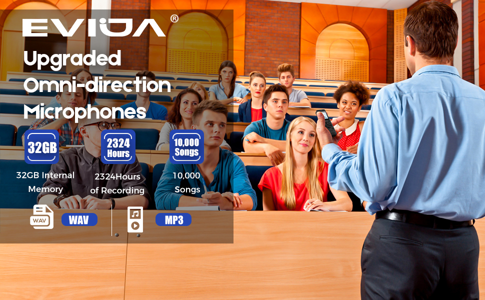 digital voice recorder for lectures