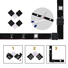 2pcs Corner-friendly L-Shape Solderless Connectors (Random Color)