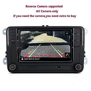 Scumaxcon Rcd330 Car Radio Carplay Supports Bluetooth Usb Sd Card Ops Rvc Am Fm For Golf Passat Van 6 5 Inches Auto
