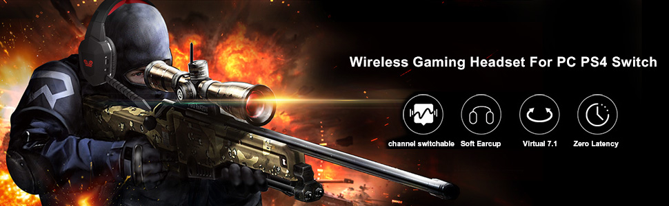 wireless gaming headset for pc ps4 switch