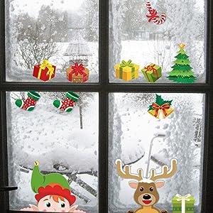 christmas window clings
