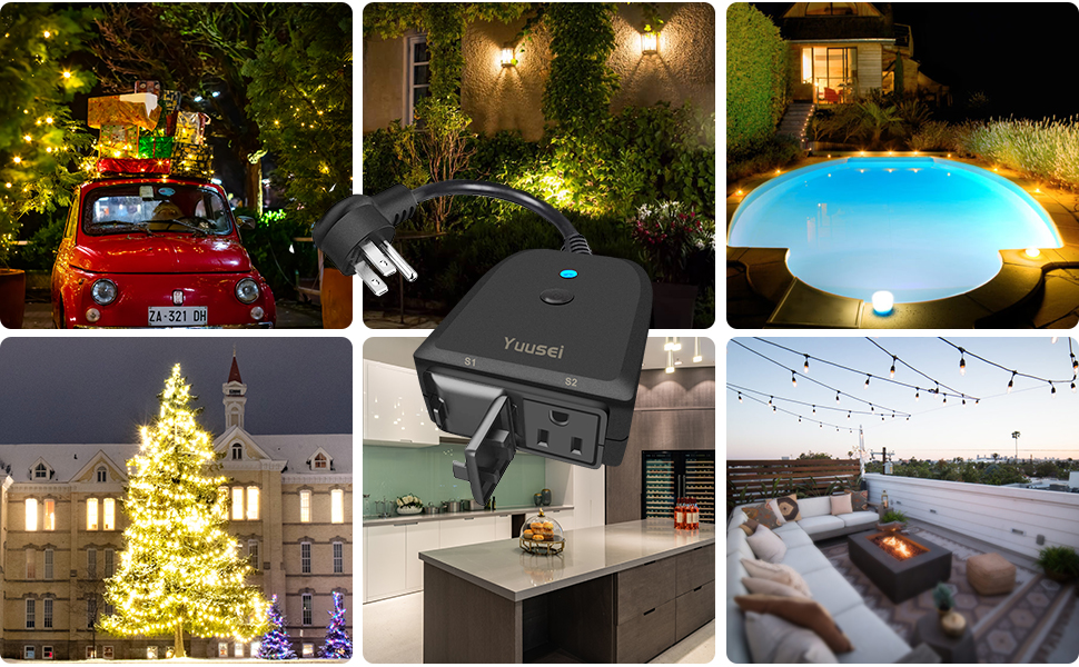 wifi plug smart outlet outdoor black wifi outlet wifi timer plug outlet outdoor 2 outlet