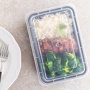 petits récipients de préparation de repas réutilisables micro-ondes plateaux alimentaires