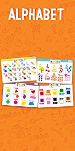 Educacional Placemats letters shapes colors numbers