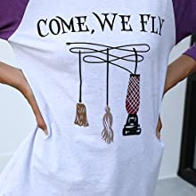 come we fly tshirt for women sanderson sister halloween tees tops come we fly hocus pocus shirt