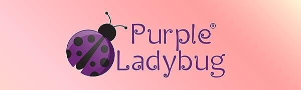 purple ladybug novelty toys gifts for girls gifts for kids color-in bag customizable messenger bag