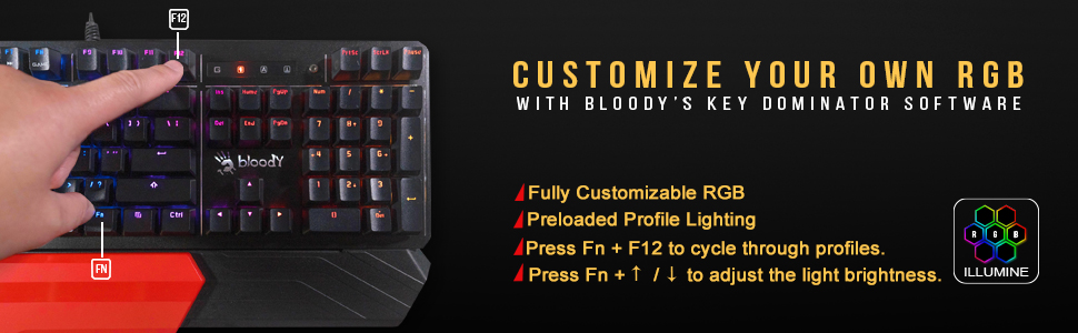 razer huntsman النخبة لوحة المفاتيح steelseries apex pro hyperx keyboard RGB LED الخلفية مضاءة Bloody it