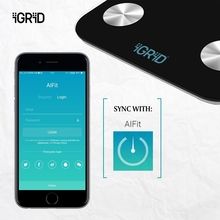 Bluetooth body fat weight scale machine measuring 17 parameters of human body with Alfit app