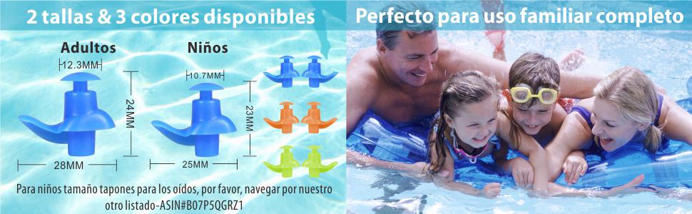 SYOSIN Tapones Oidos Nataci/ón 3 Pares Tapones Oidos de Silicona Reutilizables Impermeable para Nadar Surfear y Otros Adultos Deportes Acu/áticos Ducharse