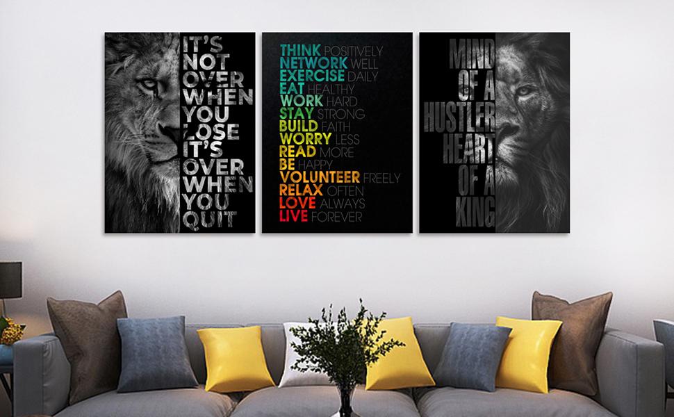 wall art office wall decor motivational artwork