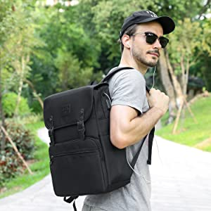 Backpack with Headphone Port