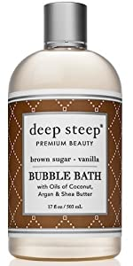 brown sugar vanilla deep steep buble bath