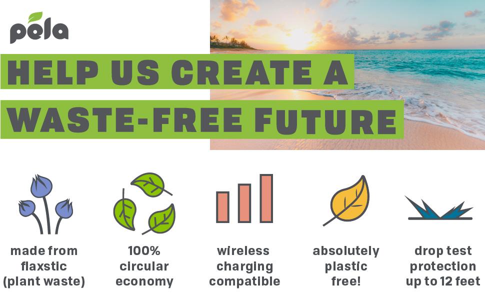 sustainable, ecofriendly, phone case, pela